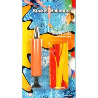 Raket ballonnen met pomp